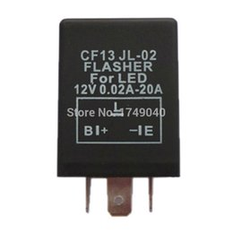 Wholesale 12v Relay Led - Wholesale-12x 12V 20A 3 Pin Car Flasher Relay Module To Fix LED Light Blink Flash CF13 JL-02 Flasher For LED Turn Signal Light Error Flash