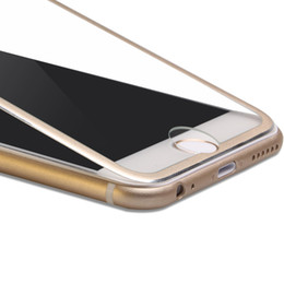 Wholesale Edge Covers - Tempered Glass Full Cover Screen protector Ultra-Thin 3D Curved Edge Titanium Alloy Design For iphone7 7 plus 6 6plus 5 5s