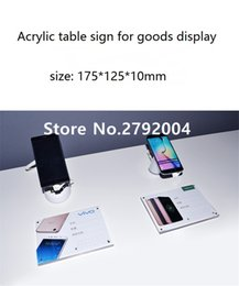 Wholesale Acrylic Price Tags - Wholesale- mobile phone retail store EAS system desktop acrylic solid glassy price tag 175*125mm