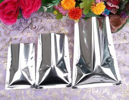 Wholesale Mask Bag - 5*7cm 100pcs pack silver aluminum foil bag-aluminizing plain pouch, heat sealed chocolate packaging pocket, facial mask pack bags