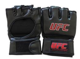 Wholesale Taekwondo Fighting Gloves - Extension wrist leather mma fighting Kick boxing gloves training taekwondo gloves (black grey)