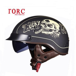 Wholesale Dot Half Helmets Face - 2017 New DOT safety certification TORC retro locomotive helmets Man half-face motorcycle prince helmet ABS Electric Bicycle Half Helmets