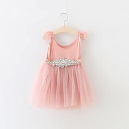 Wholesale Fairy Style Dresses - 2016 New Kids Girls Fairy Tutu Lace Dress Ruffles Puff Sleeve Crystal Belts Tutu Party Dress Multi Color Western Dress