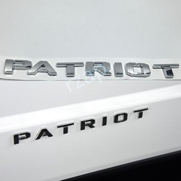 Wholesale Letters For Doors - 3 Colors For Jeep 2011-2016 Patriot Letter Car Body 3D ABS Chrome Emblem Logo Nameplate Badge Accessories