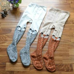 Wholesale Winter Cotton Pantyhose - 2 colors Autumn New baby girls cute fox Leggings kids pp pants pantyhose children Bottoms pants C1188