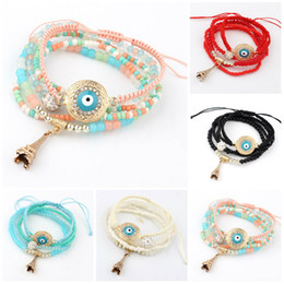 Wholesale Friendship Bracelet Designs - Charm Bracelet 2016 New Design Summer Style Fashion Tassel Pendant Colorful Beads Bracelet Jewelry For Women Friendship Bracelet