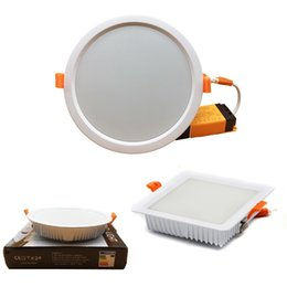 Wholesale Dimmable Smd Mount Led - 5730 SMD Led Panel Lights Dimmable 7W 16W 24W 32W Led Recessed Ceiling Panel Lights White Frame AC 110-240V