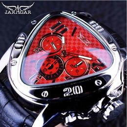 O vencedor assiste vermelho on-line-Jaragar 2019 Esporte Racing Series Red Moda Dial Genuine Leather Strap Mens Relógios de Pulso Masculinos Top Marca de Luxo Relógio Automático