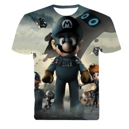 Wholesale Super Mario Tee - Wholesale-Super Mario Cartoon Character Men t-shirt 3D printed casual O neck short tshirt summer tops unisex tee fashion clothes t shirt