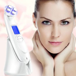 Wholesale Home Face Lift Machine - TM-RF002 RF EMS Photon Led therapy face lift machine electropration mesotherapy beauty device for face wrinkle removal home use