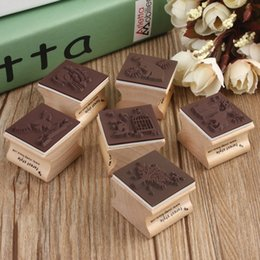 Wholesale Romantic Collection - Romantic Design Best Price Cute DIY Retro Vintage Forest Animal Diary Album Scrapbook Wooden Rubber Stamp Good For Collection