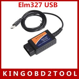 Wholesale Wholesale Price Software - High quality 20pcs lot ELM327 USB plastic with latest software,Best price usb elm327 version 1.5a hot sales in stock