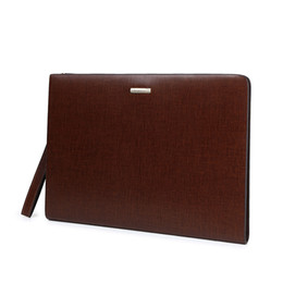 Wholesale Handle Bag Ipad - Wholesale-DongHong Ipad bag real leather Business package gentlemen's Briefcase genuine Ipad bags computer