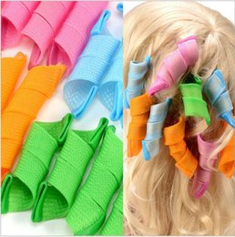 Wholesale Diy Hair Styling Tools - 18pcs DIY Amazing Magic Leverag Hair Curlers Curlformers Plastic Hair Roller 2pcs Hooks Hair Styling Tools