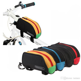 Wholesale Water Bike Sale - Hot Sale! Roswheel Outdoor Mountain Bicycle Cycling Frame Front Top PVC Tube Bag Bike 1L Pouch 12654 Red Blue Black Yellow H268