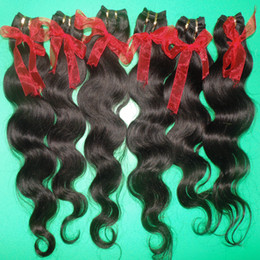 natural weave hairstyles Coupons - Newest Hairstyles Body Wave Extensions Processed human hair cheapest price 7pcs lot Brazilian hair wefts Fast Shipping