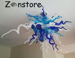 Wholesale Blow Pops - Pop Art Ocean Series Home Decor Elegant Chihuly Style Hand Blown Murano Glass Chandelier Glass Ceiling Pendent Light