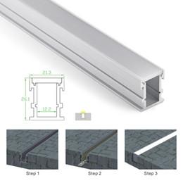 2019 große led-streifen 10 X 1 Mt sets / lot Al6063 T6 aluminium led-profil und Anodized silber led-kanal streifen für boden oder einbau boden beleuchtung