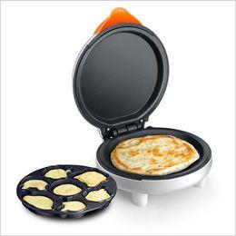Wholesale Mini Pancakes Pan - Wholesale-Electromechanical double-sided baking pan cake home heating pizza pancake machine Mini Cartoon Multifunction