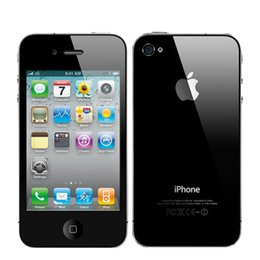 "Wholesale Iphone4 Apple Original - Refurbished Original Apple iPhone 4 Unlocked 3G WCDMA Smart Phone ios7.0 Wifi GPS 3.5"" IPS 5MP Cell Phone iPhone4 US Version"