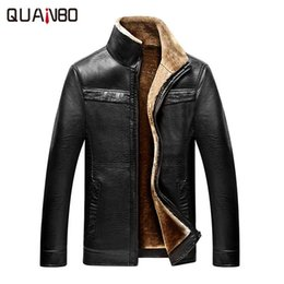 Wholesale Pu Leather Garment - Wholesale- Winter New Arrivals Thick Warm PU Leather Garment Casual Flocking Leather Jacket High Quality Men's Clothing Jaquetas de Couro