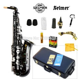 Wholesale Alto Professional - Wholesale-New France Alto Saxophone 54 Professional E Black Pearl Sax mouthpiece With Case and Accessories Free Shipping
