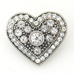 Wholesale Ceramic Hearts Wholesale - Some Design To Choose 20mm Hearts Snaps or Love Snaps Button Jewelry Fit Ginger Snaps Jewelry From Partnerbeads KBLOVE-1