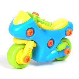 Wholesale Disassembly Educational Toy - 1Pcs DIY Disassembly Motorcycle Mini Plastic Assembly Motobike Design Educational toys for children Random Color K5BO