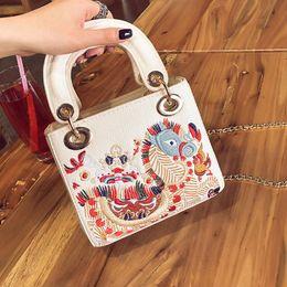 Wholesale Mini Cute Bucket - 2017 New spring summer designer mini totes bag women Korean fashion crossbody vintage mini chain shoulder bag cute fashion hot sale