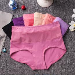 Wholesale Transparent Waist Panties - 6pcs lot Sexy Women's Transparent Lace Panties Cotton High Waist Underpants Seamless Briefs Plus Size Panty Women Underwear