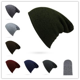 Wholesale Cheap Winter Hats For Women - Cheap And Good Quality New Fashion Women Men Knitting Beanie Hip-Hop Winter Warm Caps Unisex 7 Colors Hats For Women