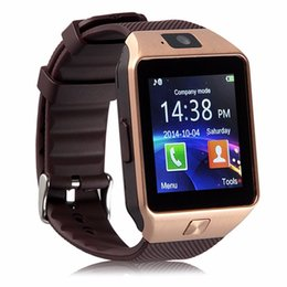 Wholesale Iphone Original Waterproof - Original DZ09 Smart watch Bluetooth Wearable Devices Smartwatch For iPhone Android Phone Watch With Camera Clock SIM TF Slot
