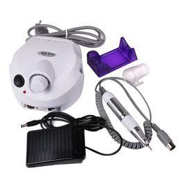 Оборудование для педикюра онлайн-Самое дешевое оборудование для искусства ногтя электрический акриловый маникюр дрель лак для ногтей машина файл буфера бит маникюр педикюр комплект 110 В - 220 В DHL
