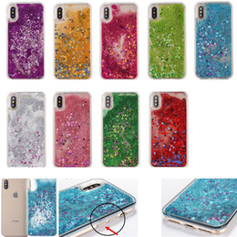 Wholesale Shining Tpu Case - Glitter Star Case Cover For iPhone X iX Soft TPU Transparent Shining Bling Phone Back Covers