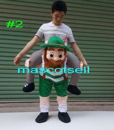 Wholesale Mascot Costumes Dwarf - The Dwarf Stuffed Ride On Me Stag Oktoberfest Mascot Costume Carry Piggy Back Fancy Dress Costume Funny Wacky pants