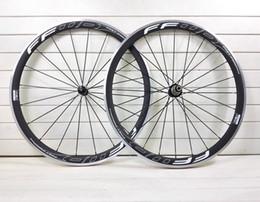 Wholesale Alloy Clincher Rims - new FFWD F4R T000 3k alloy carbon wheels A271 Hub Front Rear rim 38mm bike Wheelset+ carbon frame