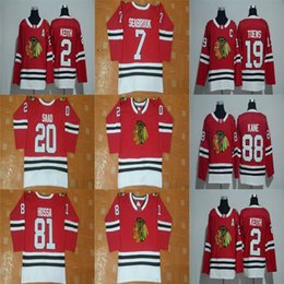Wholesale Brand Hockey Jerseys - 2017 New Brand NHL Mens Jonathan Toews Patrick Kane Duncan Keith Brandon Saad Brent Seabrook Chicago Blackhawks Red Cheap Ice Hockey Jerseys