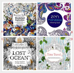 Wholesale Girl Books - adult coloring books 4 Design Secret Garden An Inky Treasure Hunt and Drawing Book Children Adult Relieve Stress Kill Time Graffiti Painting