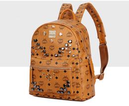 Wholesale Trunks For Women - Brand Designer Backpack Fashion Backpack for Man Women Rivet Bag Lady Daily Shoulder Bag Students School Bag