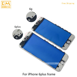 """Wholesale Replace Phone Screen - 5pcs lot For iPhone 6G 5.5"""" 6 Plus Outer Replace Glass with Frame Bezel LCD Front Touch Screen Glass Panels Digitizer Sensor Phone Parts"""