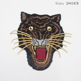 Wholesale Tigers Stickers - Large Tiger Head Patches Sew Or Iron on for Clothes Applique Diy Accessory Sticker Patches Down Jacket Party