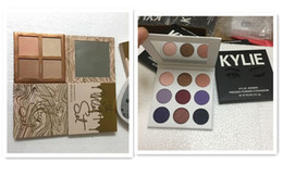 Wholesale Glitter Palette - Kylie Jenner the purple palette 9 colors The Wet Set 4 color Bronzer & Highlighters Pressed Powder vacation collection Palette drop ship