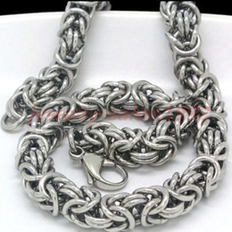 Wholesale Very Cool - COOL Stainless Steel Silver Turkish Round & Byzantine Chain Maille Necklace All handmade, very rare jewelry. NICE GIFT