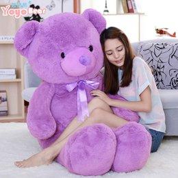 Wholesale Giant Bear 63 - 63''   160cm Giant JUMBO Big Plush Stuffed purple lavender Teddy Bear, Free Shipping
