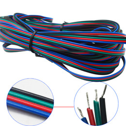 Wholesale rgb led extension - 1m 2m 3m 4m 5m 10m 20m 50m 4 Pin 5 Pin Channels LED RGB cable for 5050 3528 LED RGBW Strip Extension Extend Wire Cord Connector