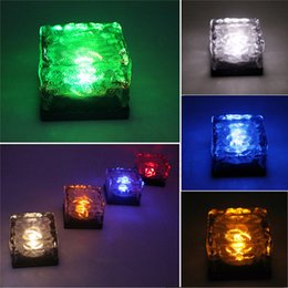 Wholesale Solar Ice Brick - New Solar Ice Brick Light LED Solar Lamps Waterproof Path and Garden Solar Lights for Outdoor Path Road Square Yard