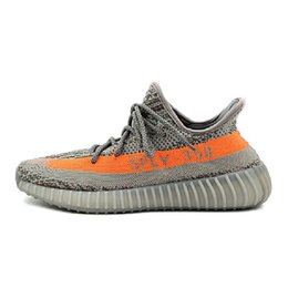 Wholesale Solar 36 - 350 Boost V2 mens running shoes Steel Grey Beluga Solar Red outdoor women sports sneaker shoes size 36-45