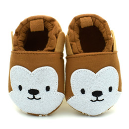 Wholesale Baby Monkey Shoes - 11-13cm Fashion Baby Girls Boy Shoes High Cute Cartoon Brown Monkey Kids Shoes Soft Baby First Walker 0-18Month