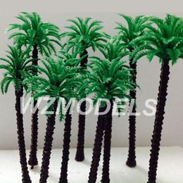 Wholesale Plastic Trees Model - Wholesale Railway Scenery miniature model plastic palm trees Roadside Green plastic 70mm hgih Palm Tree
