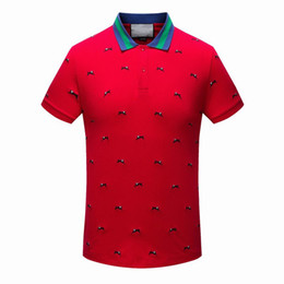 Wholesale Polo Boys - New Summer Famous Brand Boys High-grade Printing Polo Shirt Short Sleeved T-Shirt Lapel shirt Embroidery Men